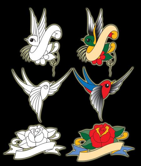 Exclusive Sailor Jerry Tattoo Vectors