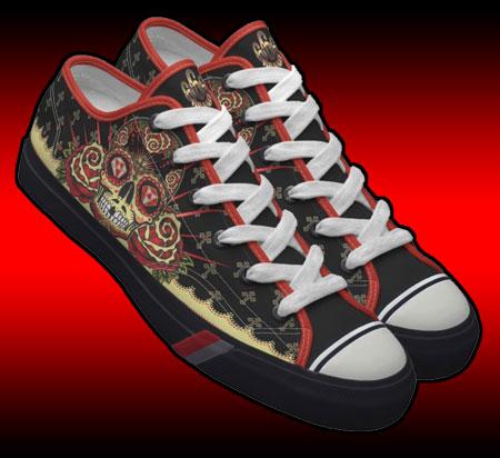 Satansbrand 666 Sugar Skull Pro Keds Lo sneakers